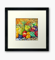 Fruit and nuts Framed Print