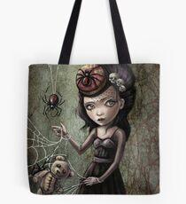 Black Widow Creepy Cute Girl Tote Bag