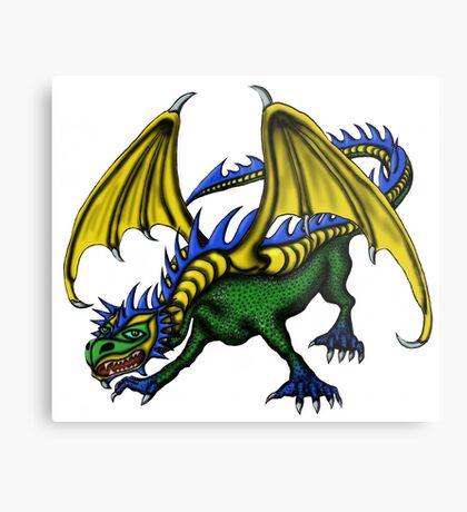 Dragon cartoon drawing art Metal Print