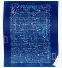 USGS Topo Map Washington State WA Oakesdale 242890 1905 125000 Inverted Poster