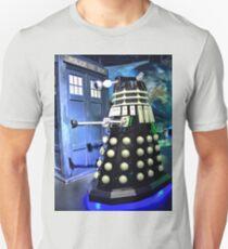 The TARDIS and a Dalek Unisex T-Shirt