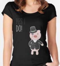 Yes I Do! - Groom Fitted Scoop T-Shirt