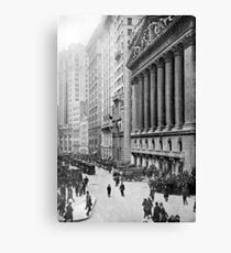 Lienzo Vintage Wall Street NYC Photograph (1921)