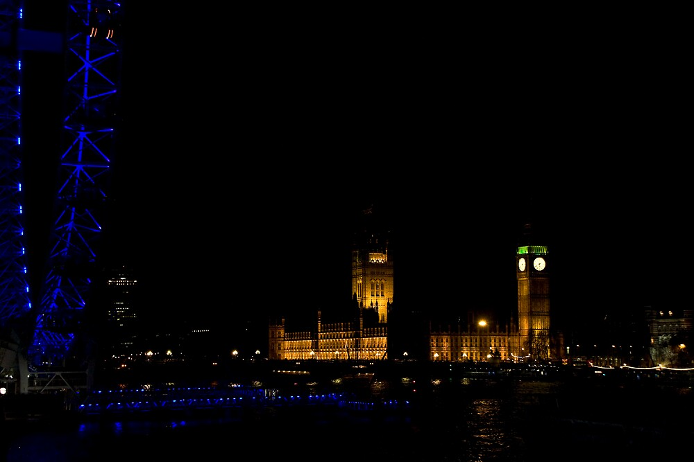 London Eye and the Houses of Parliament by Peter Martin