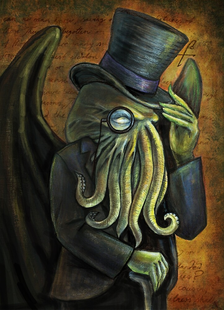 Dapper Cthulhu by DianaLevinArt