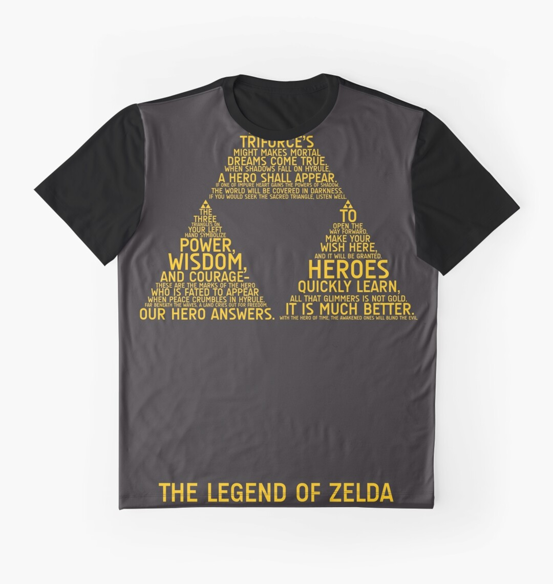 Kirkland black t shirts xl - Legend Of Zelda Typography Graphic T Shirts