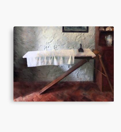 Iron Board and Iron Canvas Print