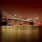 Brooklyn Bridge at Night by BlackRussian