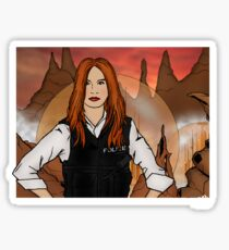Amy Pond & Gallifrey V2 Sticker