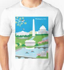 Washington, D.C. - Skyline Illustration by Loose Petals Unisex T-Shirt