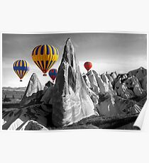 Hot Air Balloons Over Capadoccia Turkey Poster