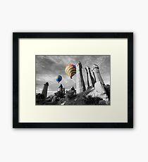 Hot Air Balloons Over Capadoccia Turkey - 2 Framed Print
