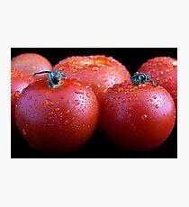 Wet whole tomatos Photographic Print