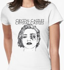 Crystal Castles Shirt RETRO Women's Fitted T-Shirt