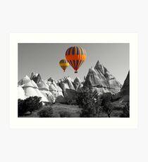 Hot Air Balloons Over Capadoccia Turkey - 5 Art Print