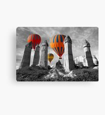 Hot Air Balloons Over Capadoccia Turkey - 6 Canvas Print