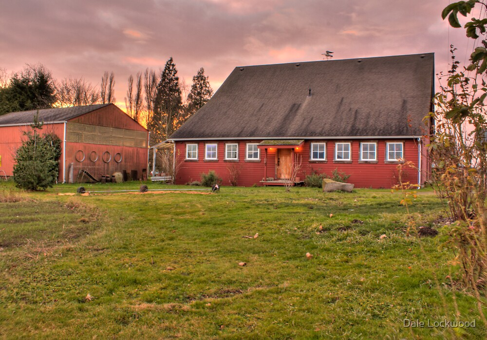 Red Barn at Sunset by Dale Lockwood