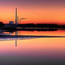 Scenic view of Power Plant in sunset by Gert Lavsen