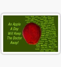 80 Different Ways To Say Apple From Around The World Sticker