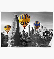 Hot Air Balloons Over Capadoccia Turkey - 8 Poster