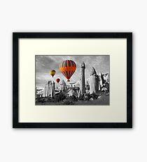 Hot Air Balloons Over Capadoccia Turkey - 9 Framed Print