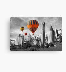 Hot Air Balloons Over Capadoccia Turkey - 9 Canvas Print
