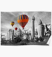 Hot Air Balloons Over Capadoccia Turkey - 9 Poster