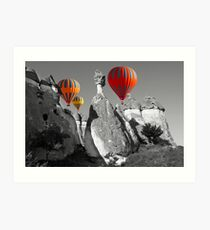 Hot Air Balloons Over Capadoccia Turkey - 11 Art Print