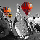 Hot Air Balloons Over Capadoccia Turkey - 11 by Paul Williams