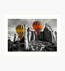 Hot Air Balloons Over Capadoccia Turkey - 12 Art Print