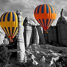 Hot Air Balloons Over Capadoccia Turkey - 12 by Paul Williams