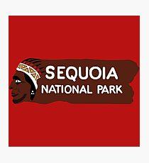 Sequoia National Park Entrance Sign, California, USA Photographic Print
