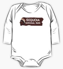 Sequoia National Park Entrance Sign, California, USA One Piece - Long Sleeve