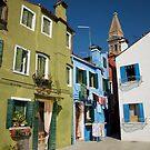 Burano Italy by Louise Fahy