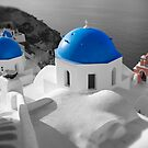 'Blue Domes' - Greek Orthodox Churches of the Greek Cyclades Islands - 3 by Paul Williams