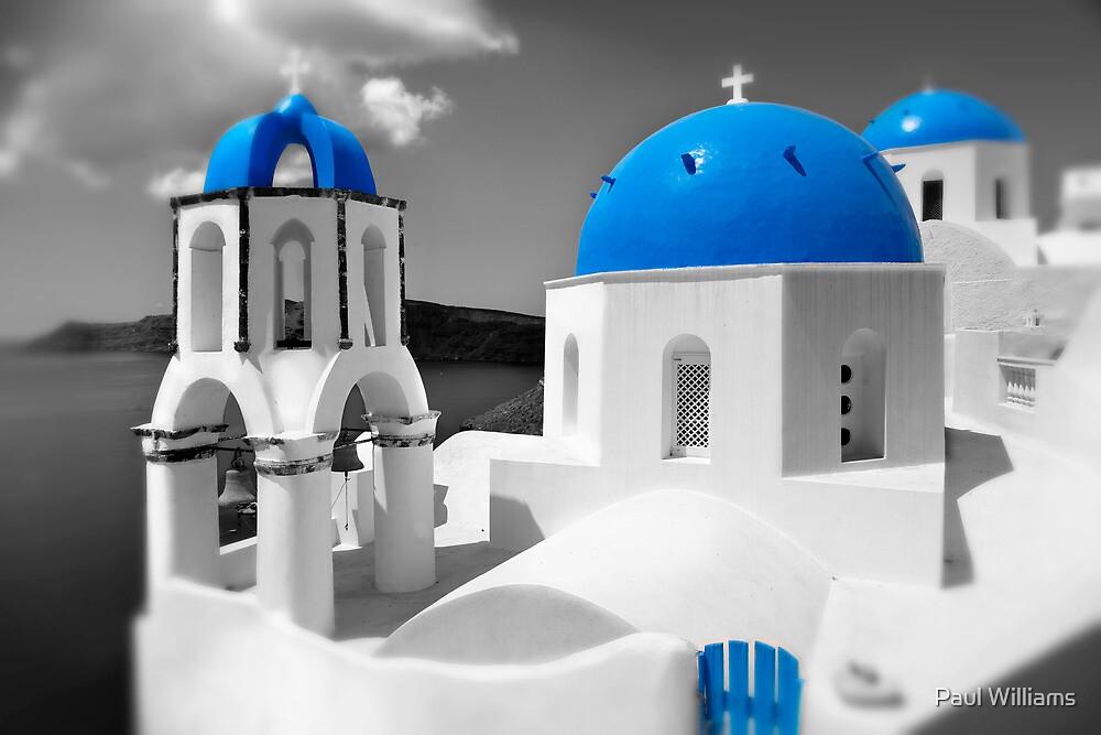 'Blue Domes' - Greek Orthodox Churches of the Greek Cyclades Islands - 4 by Paul Williams