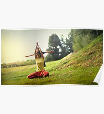 Yoga with kids in the park Poster