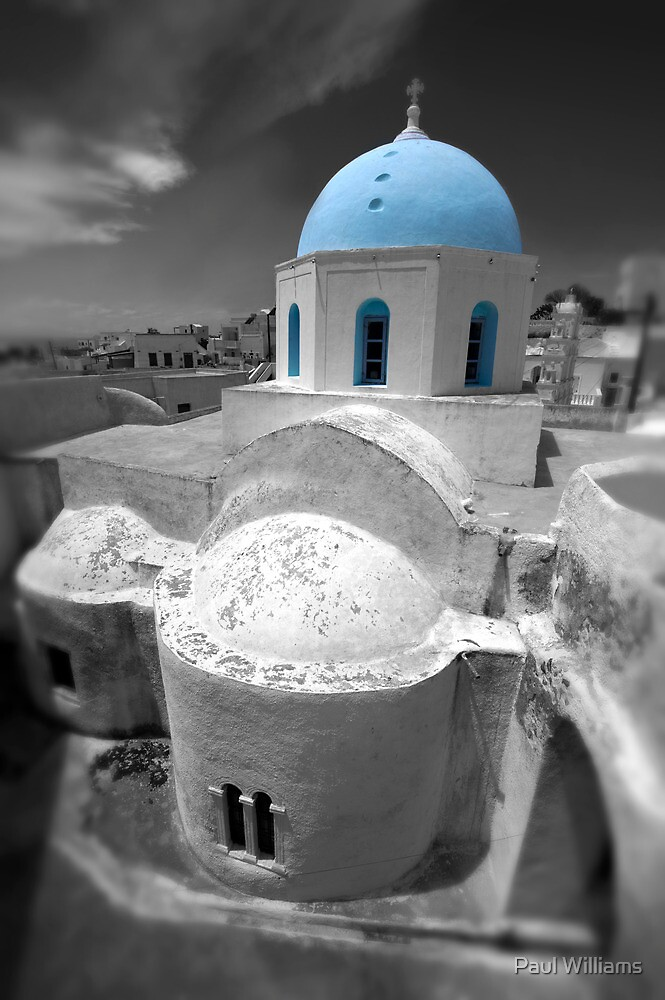 'Blue Domes' - Greek Orthodox Churches of the Greek Cyclades Islands - 6 by Paul Williams