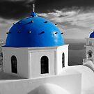 'Blue Domes' - Greek Orthodox Churches of the Greek Cyclades Islands - 7 by Paul Williams