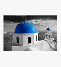 'Blue Domes' - Greek Orthodox Churches of the Greek Cyclades Islands - 7 Photographic Print