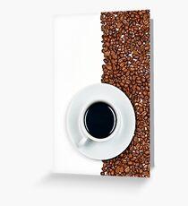 Coffee Flag Greeting Card