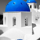 'Blue Domes' - Greek Orthodox Churches of the Greek Cyclades Islands - 9 by Paul Williams