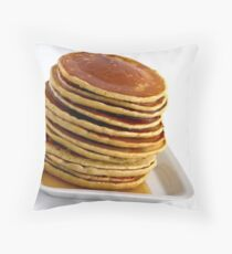 Stack of pancakes with syrup Throw Pillow