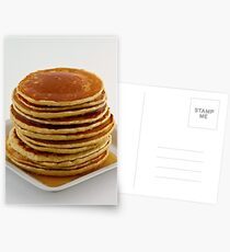 Stack of pancakes with syrup Postcards