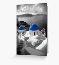 'Blue Domes' - Greek Orthodox Churches of the Greek Cyclades Islands - 9 Greeting Card