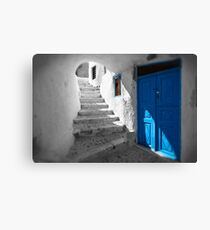 'Blue Domes' - Greek Orthodox Churches of the Greek Cyclades Islands - 11 Canvas Print