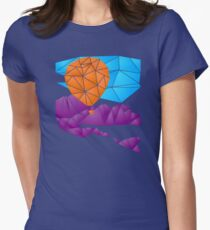 Balloon over the Rockies Womens Fitted T-Shirt