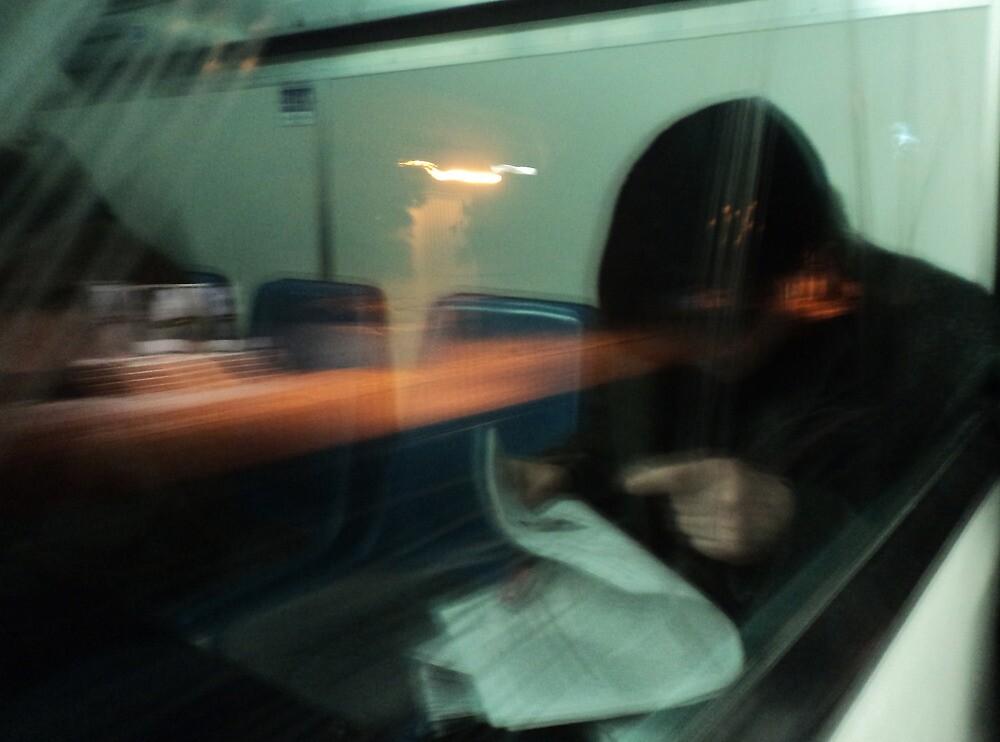 man on train I by gstella