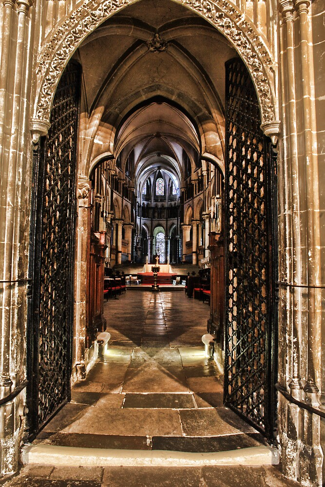 Canterbury Cathedral - Through The Screen by Dave Godden