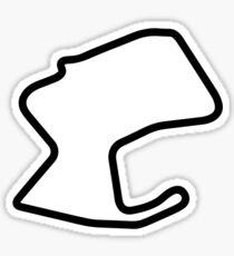 Laguna Seca Track Map Sticker Sticker